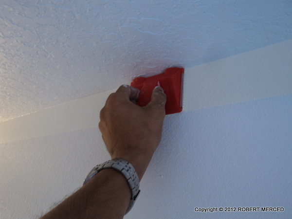 How To Paint Straight Lines In Bumpy Corners Of Room