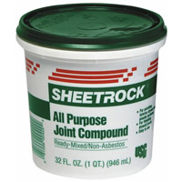 joint compound to fix the walls